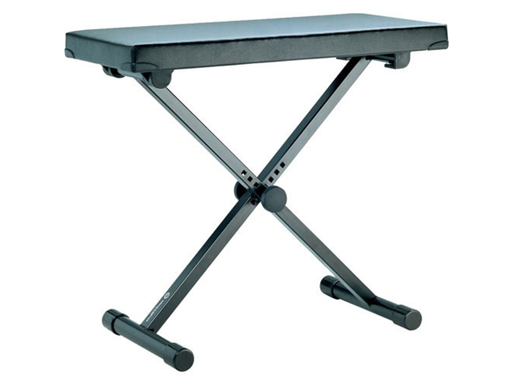 K&M 14075 Extra Wide Keyboard Bench (Black)