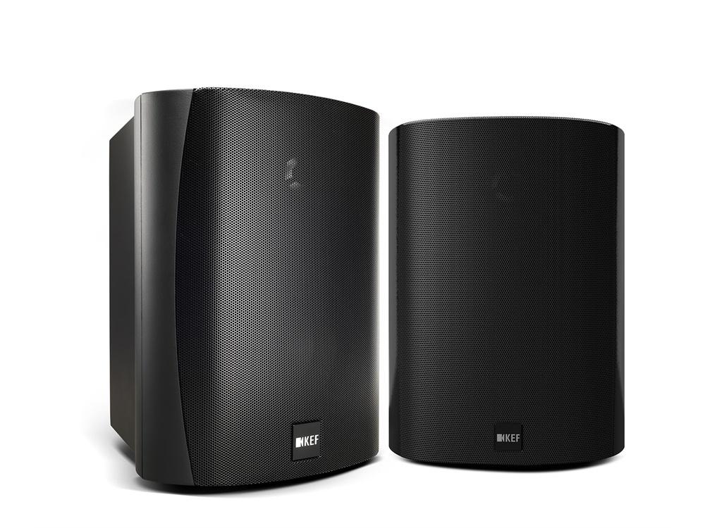 """KEF VENTURA5B 5.25"""" Weatherproof Outdoor Speaker - Pair (Black)"""