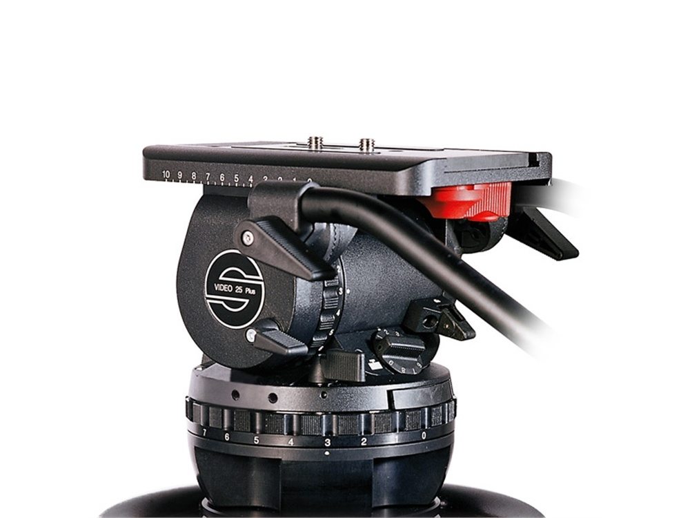 Sachtler VIDEO 25 PLUS FB Fluid Head (Flat Base) - Supports 5-36 kgs