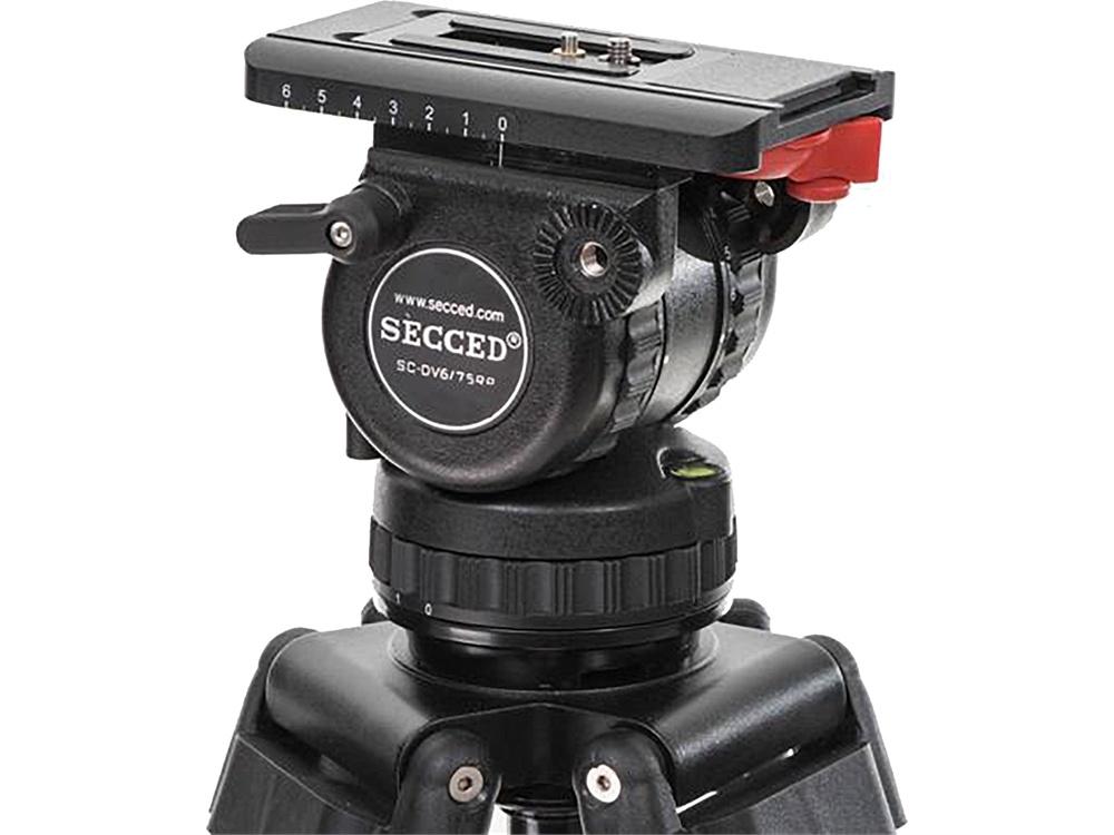Secced SC-DV6/75RP Fluid Head and SC-PB10 Pan Bar