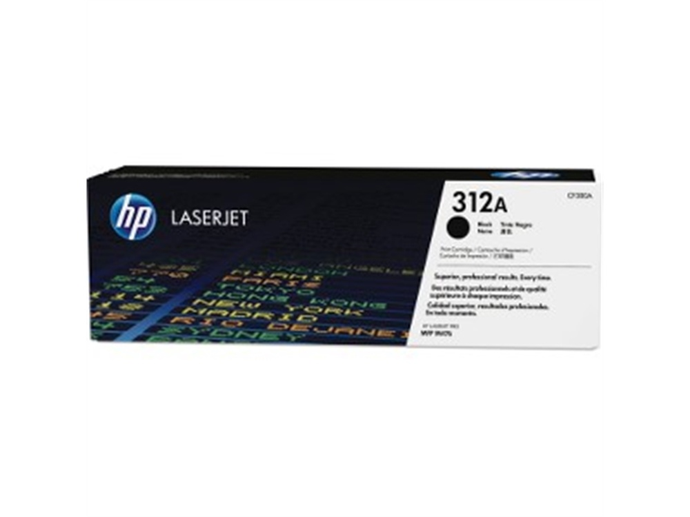 HP 312A (CF380A) Original Laser Toner Cartridge (Black)