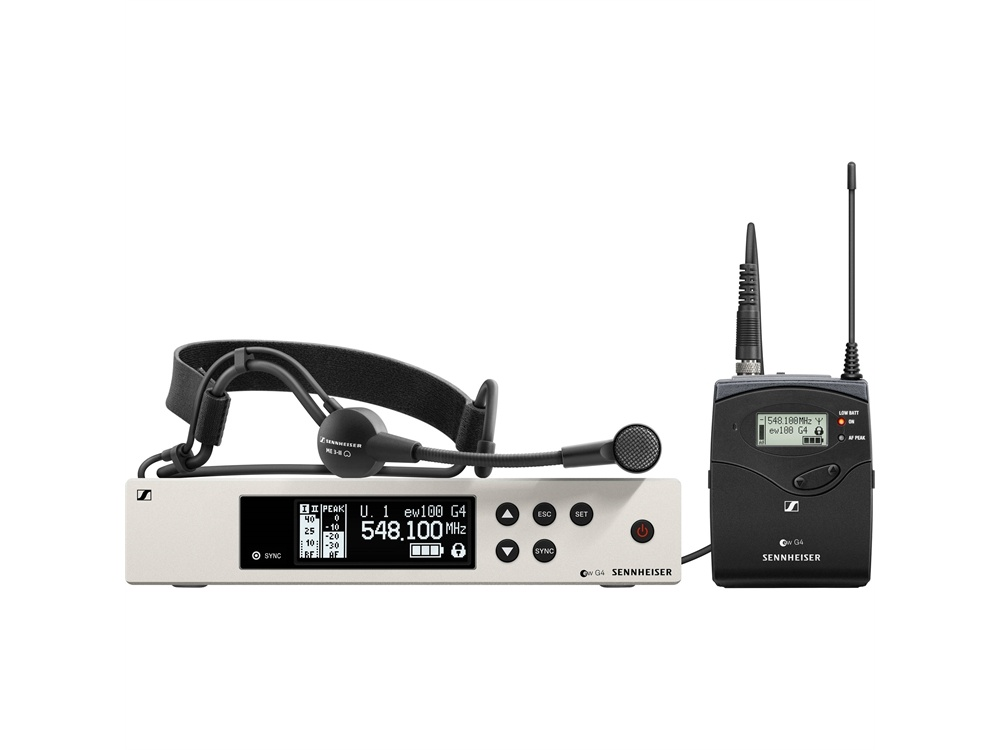 Sennheiser EW 100 G4-ME 3-II Wireless Bodypack System with ME 3-II Headset Microphone (B Band)
