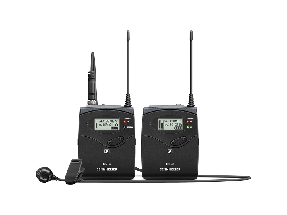 Sennheiser EW 122P G4 Camera-Mount Wireless Microphone System with ME 4 Lavalier Mic (B Band)