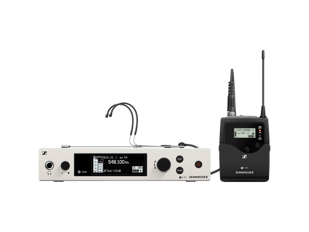 Sennheiser EW 300 G4-Headmic1-RC Wireless Bodypack Headmic Set (AW+ Band)