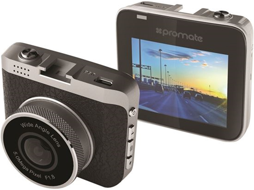 Promate Car Dashboard Camera with Full HD Recording Support