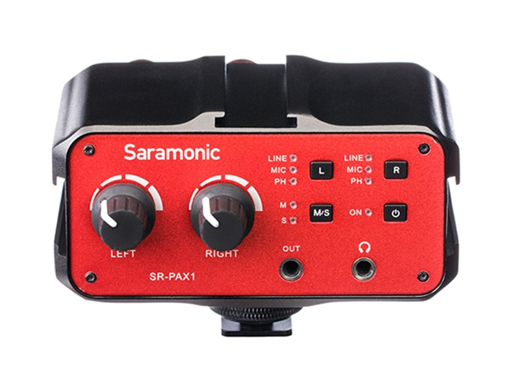 Saramonic SR-PAX1  2-Channel Audio Mixer with 3.5mm XLR 6.35mm