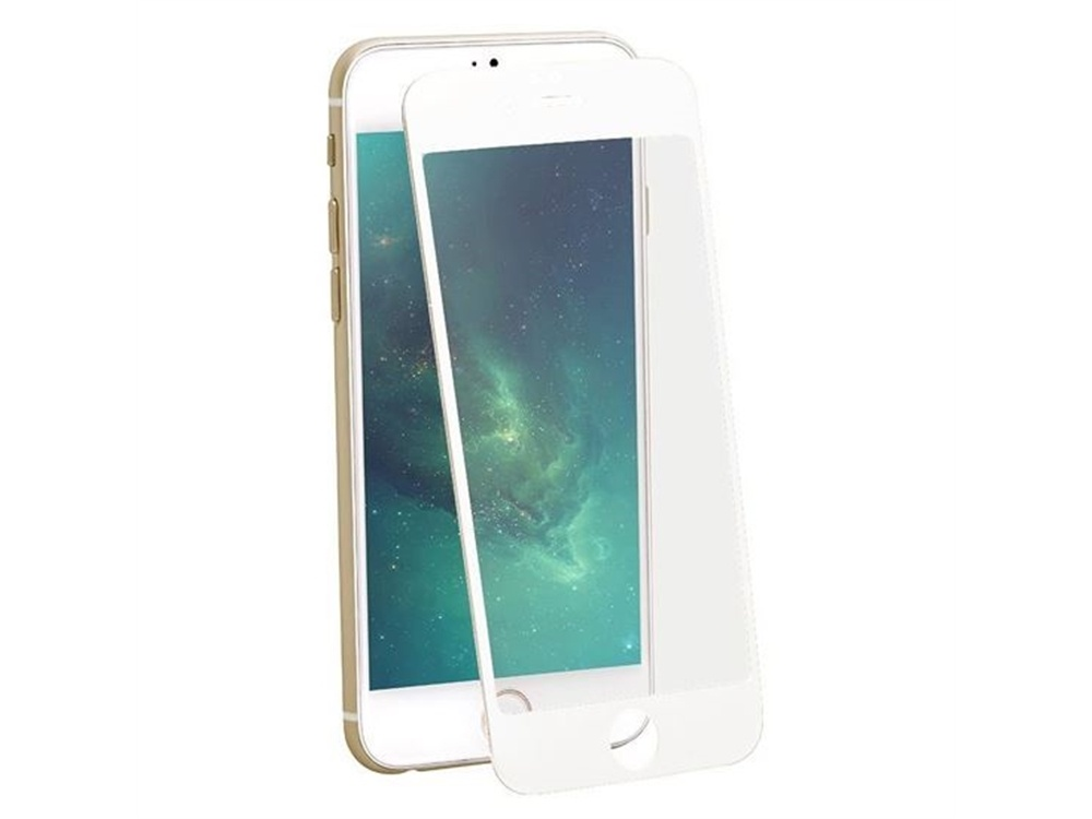 Promate Premium PET scratch-proof Edge-to-Edge Screen Protector for iPhone 6 (White)