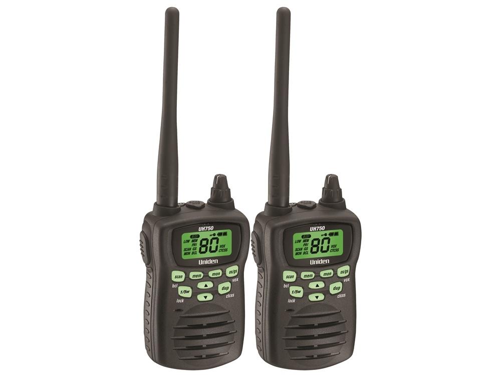 Uniden UH750 5W UHF-CB Handheld Radio (Twin Pack)