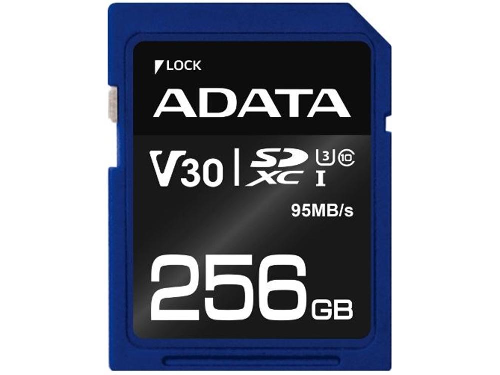ADATA 256GB Premier Pro V30 SDXC UHS-I U3 Memory Card (Class 10)