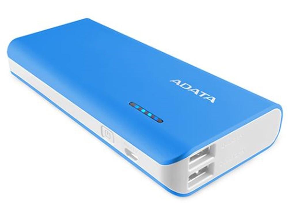 ADATA PT100 Power Bank with Flashlight (Blue/White, 10000mAh)