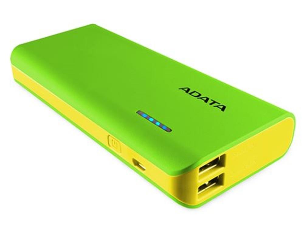 ADATA PT100 Power Bank with Flashlight (Green/Yellow, 10000mAh)