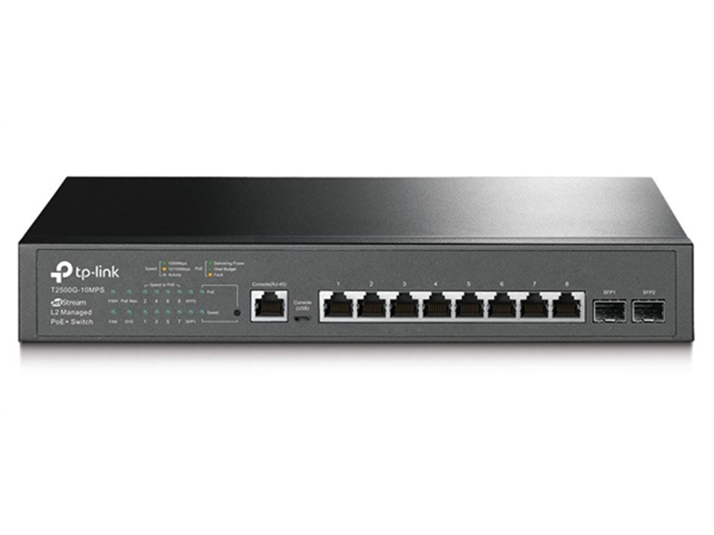 TP-Link T2500G-10MPS JetStream 8 Port Gigabit PoE L.2 Switch