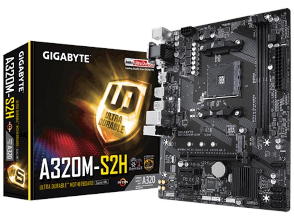 Gigabyte A320M-S2H mATX Ultra Durable Motherboard