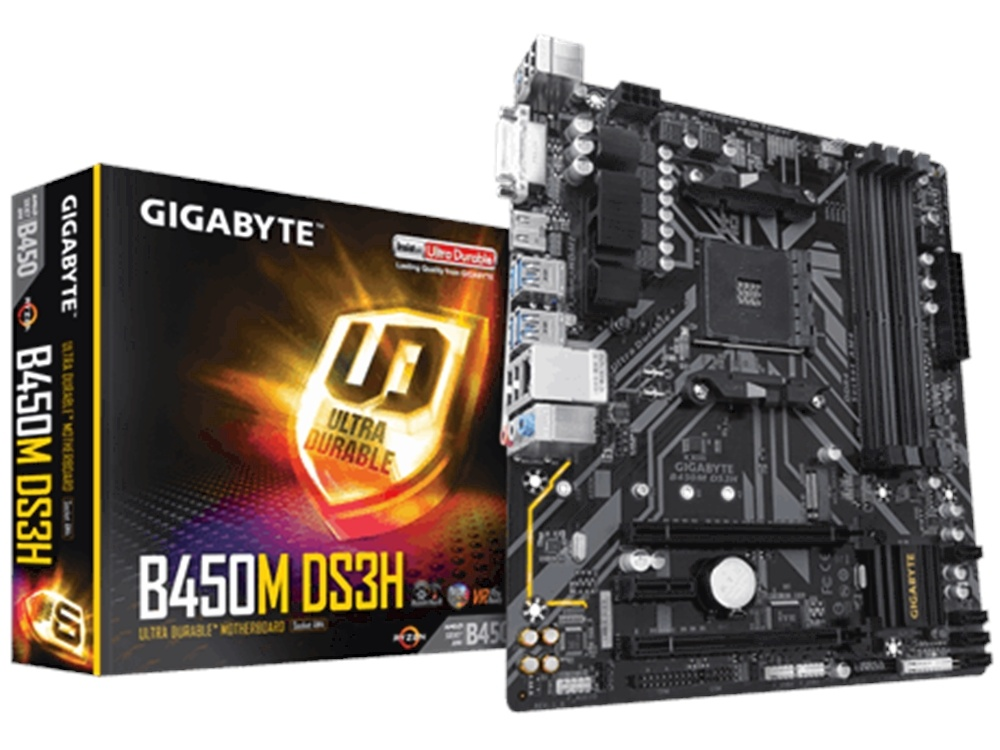 Gigabyte B450M-DS3H 400 Series mATX Ultra Durable Motherboard