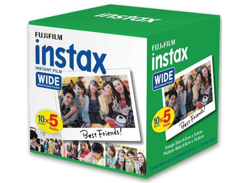 Fujifilm Instax Wide Film (50 Exposures)