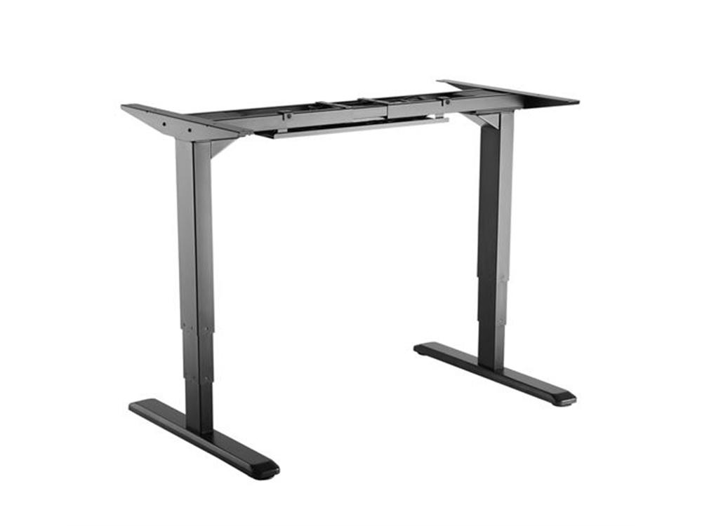BRATECK Electric Adjustable Sit-Stand Two Leg Desk Frame (Black)