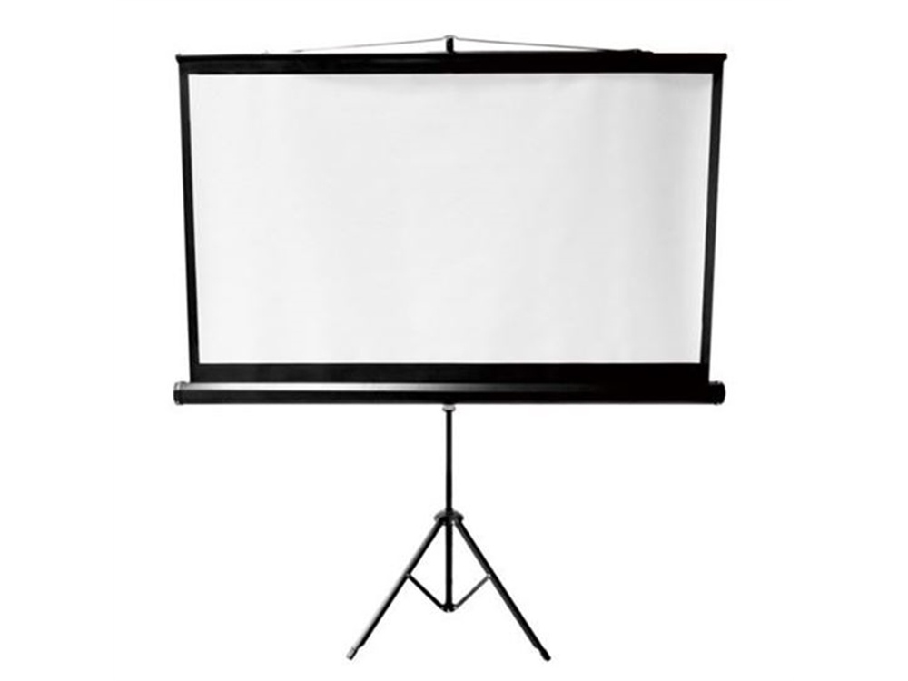 "BRATECK 112"" Projector Screen with Tripod 1:1"