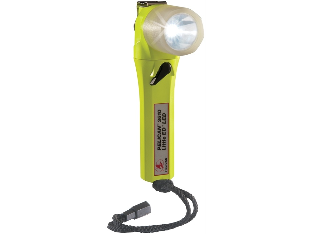 Pelican 3610 Little Ed Right Angle LED Flashlight with Photoluminescent Shroud (Yellow)