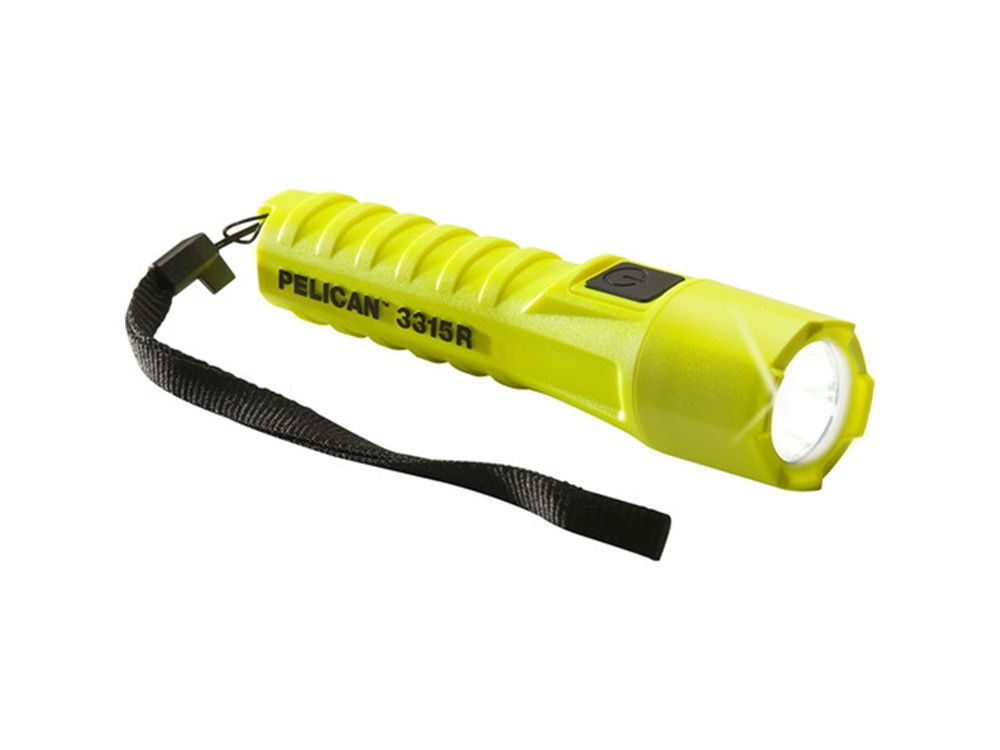 Pelican 3315R Rechargeable Safety Certified Flashlight (Yellow)