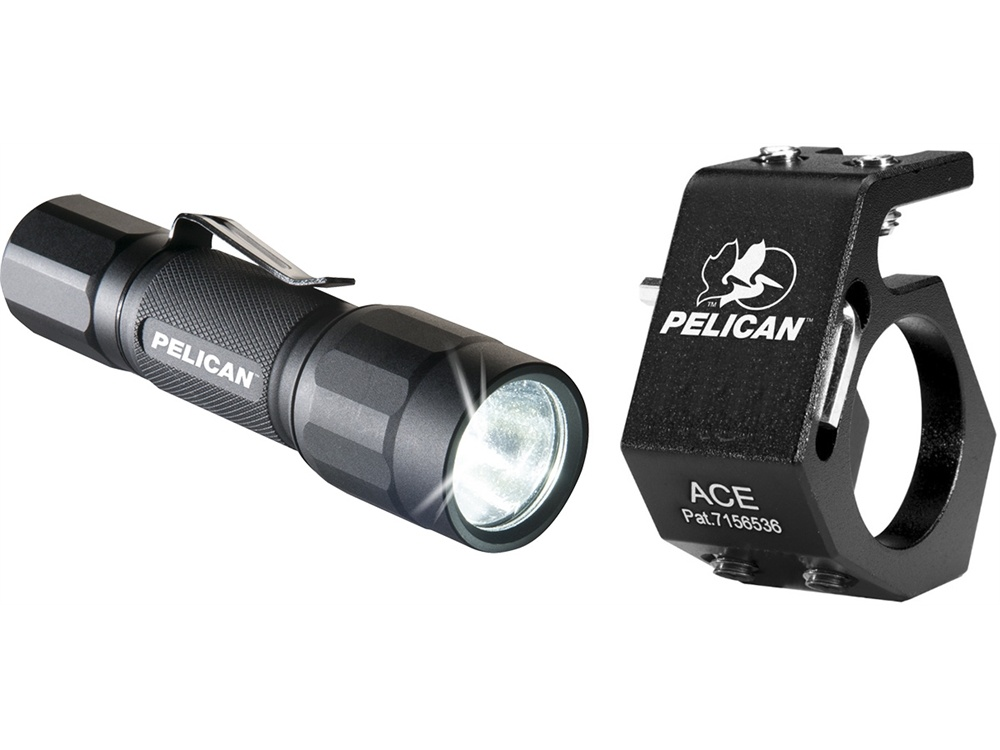 Pelican 2350 Flashlight and Helmet Mount Combo (Black)