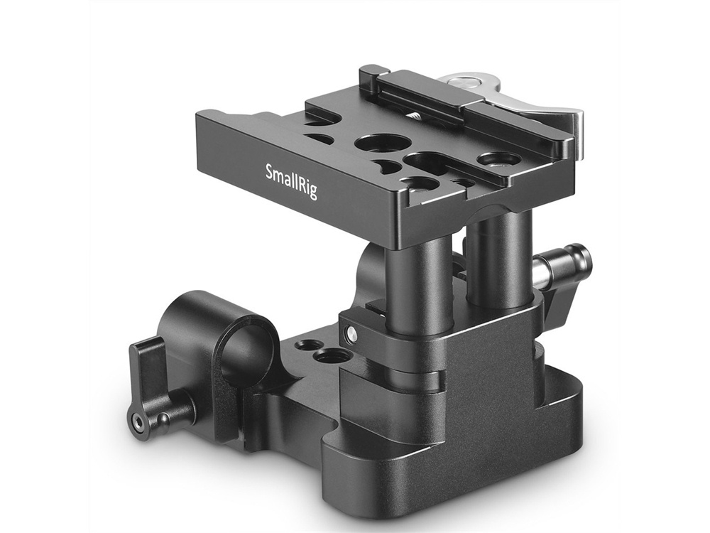 SmallRig 2145 Universal 15mm Rail Support System Baseplate (QR Plate Excluded)