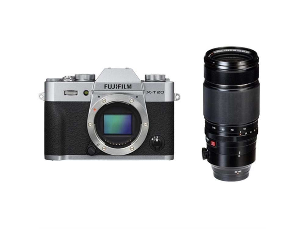Fujifilm X-T20 Mirrorless Digital Camera (Silver) with XF 50-140mm f/2.8 R LM OIS WR Lens