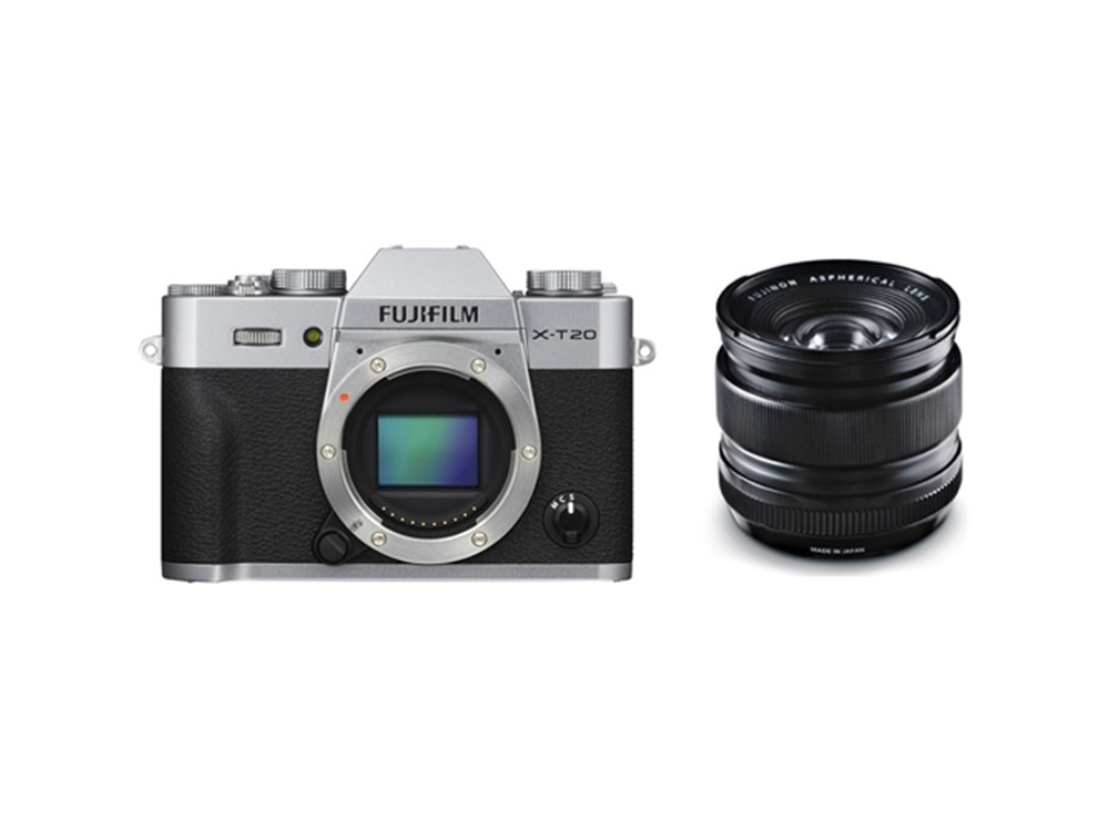 Fujifilm X-T20 Mirrorless Digital Camera (Silver) with XF 14mm f/2.8 R Ultra Wide-Angle Lens