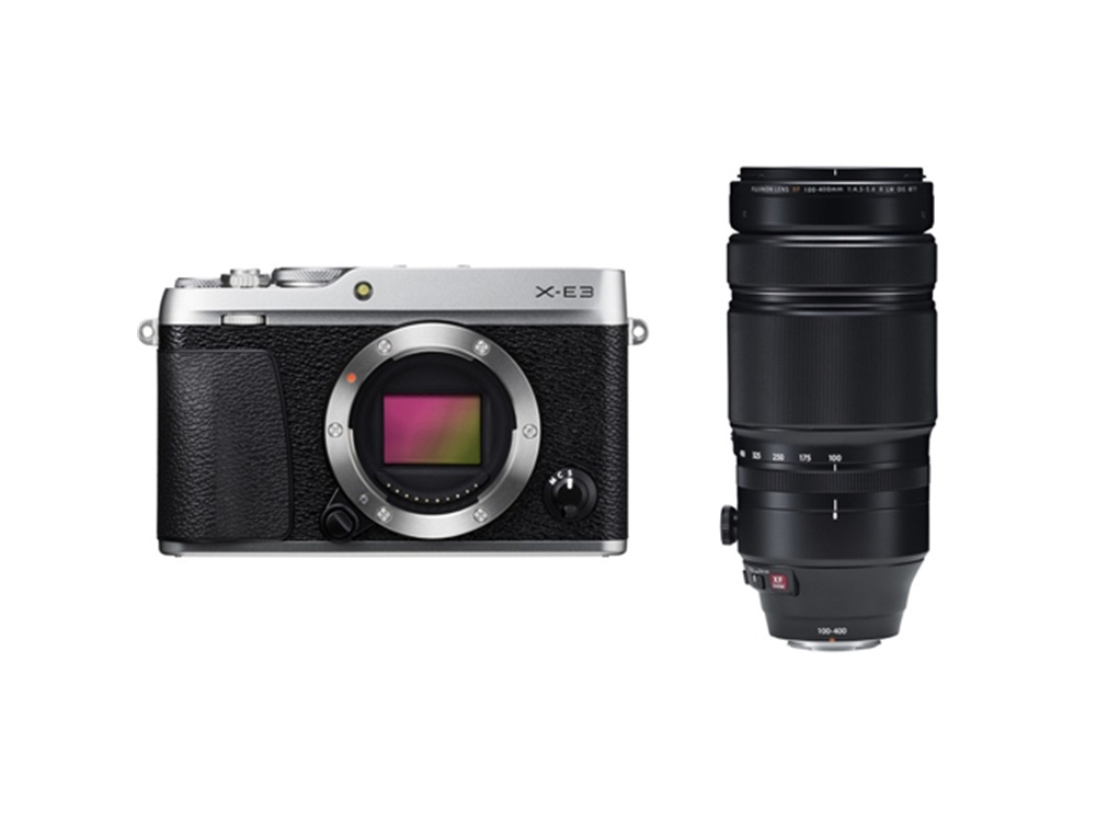 Fujifilm X-E3 Mirrorless Digital Camera (Silver) with XF 100-400mm f/4.5-5.6 R LM OIS WR Lens