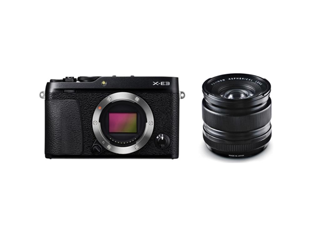 Fujifilm X-E3 Mirrorless Digital Camera (Black) with XF 14mm f/2.8 R Ultra Wide-Angle Lens