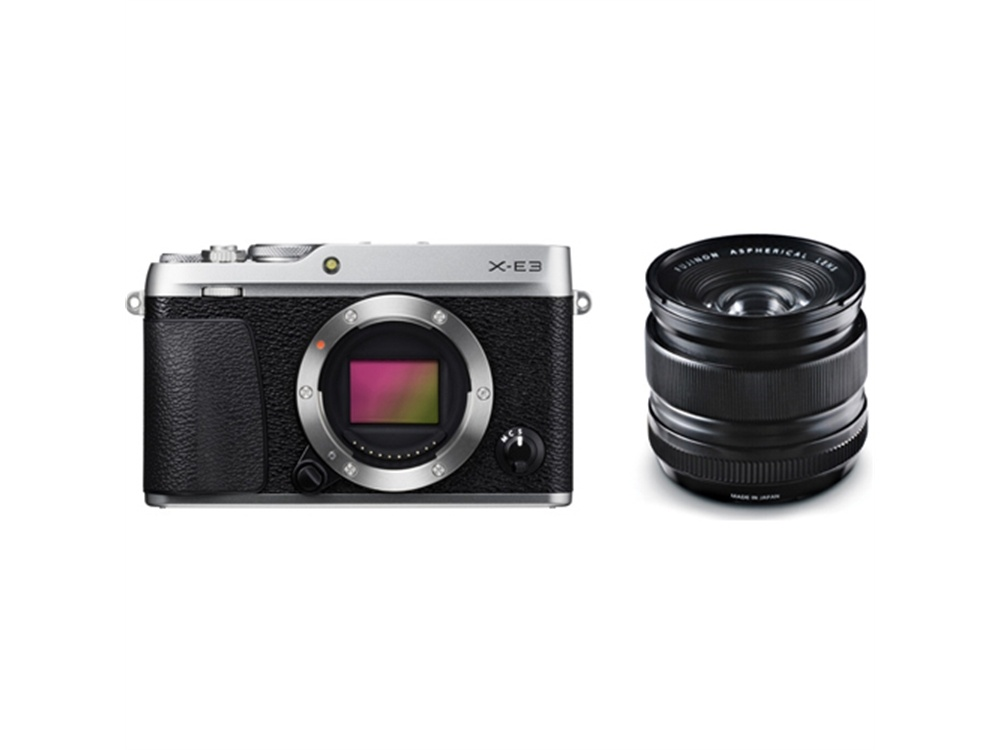 Fujifilm X-E3 Mirrorless Digital Camera (Silver) with XF 14mm f/2.8 R Ultra Wide-Angle Lens