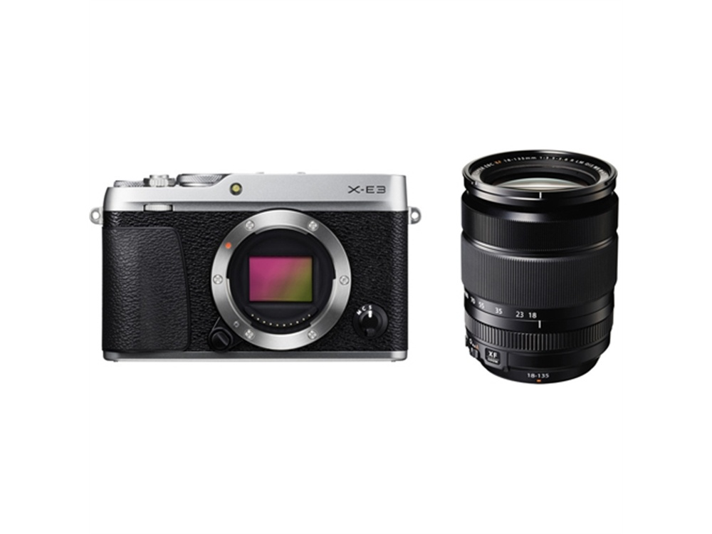 Fujifilm X-E3 Mirrorless Digital Camera (Silver) with XF 18-135mm f/3.5-5.6 R LM OIS WR Lens
