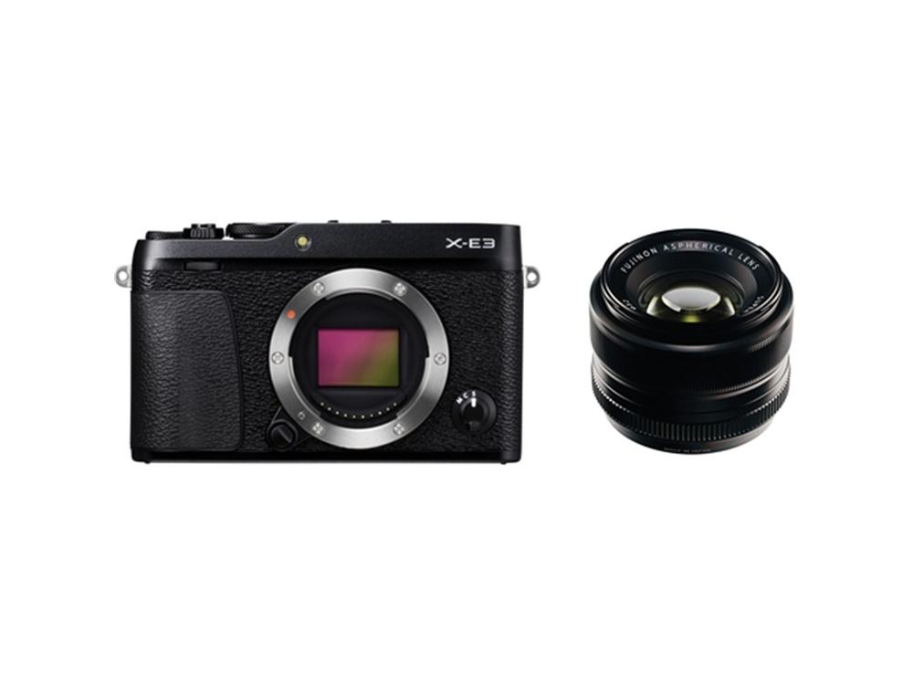 Fujifilm X-E3 Mirrorless Digital Camera (Black) with XF 35mm f/1.4 R Lens