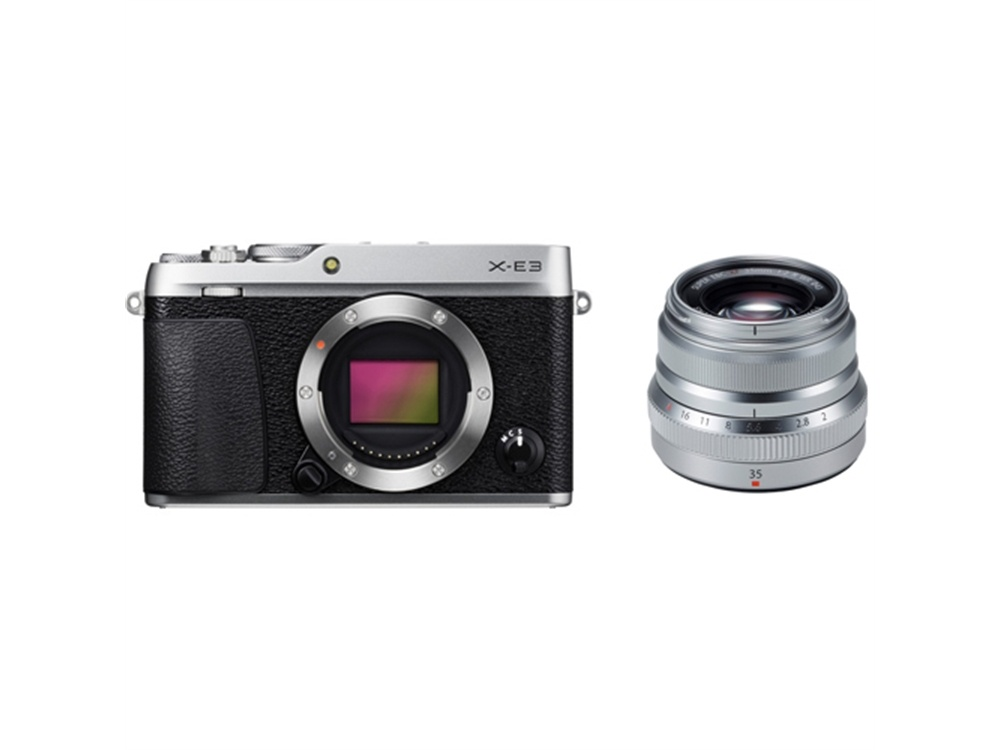 Fujifilm X-E3 Mirrorless Digital Camera (Silver) with XF 35mm f/2 R WR Lens (Silver)