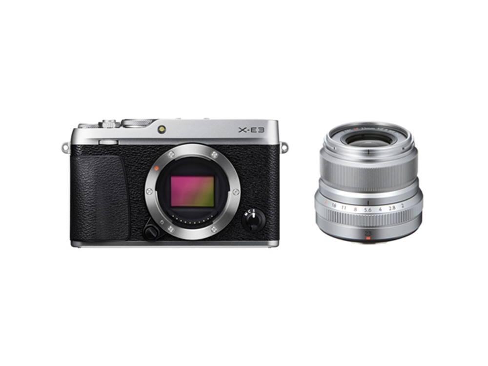 Fujifilm X-E3 Mirrorless Digital Camera (Silver) with XF 23mm f/2 R WR Lens (Silver)