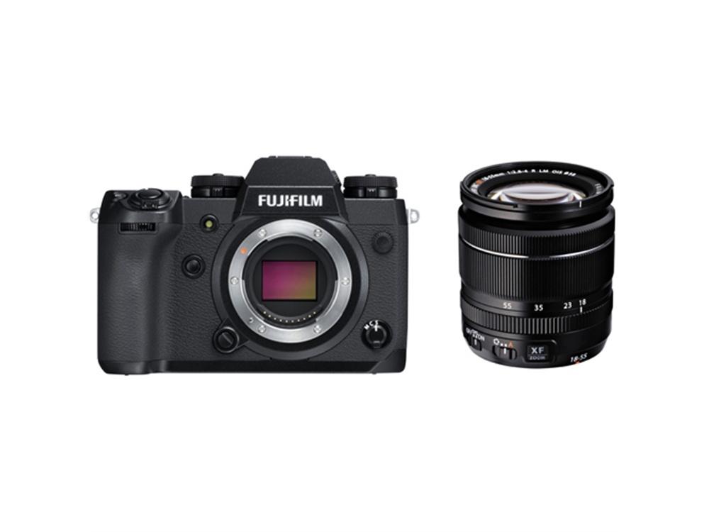 Fujifilm X-H1 Mirrorless Digital Camera with XF 18-55mm f/2.8-4 R LM OIS Zoom Lens