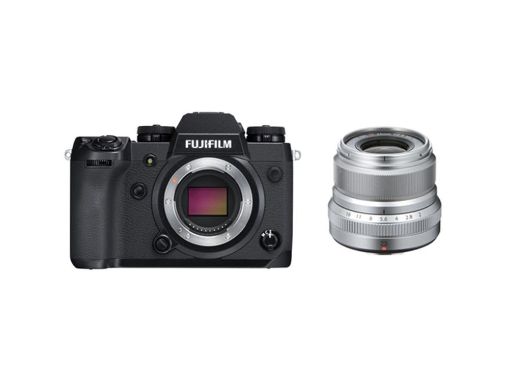 Fujifilm X-H1 Mirrorless Digital Camera with XF 23mm f/2 R WR Lens (Silver)