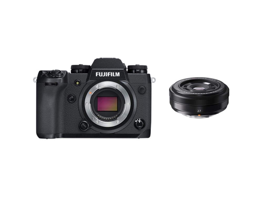 Fujifilm X-H1 Mirrorless Digital Camera with XF 27mm f/2.8 Lens (Black)