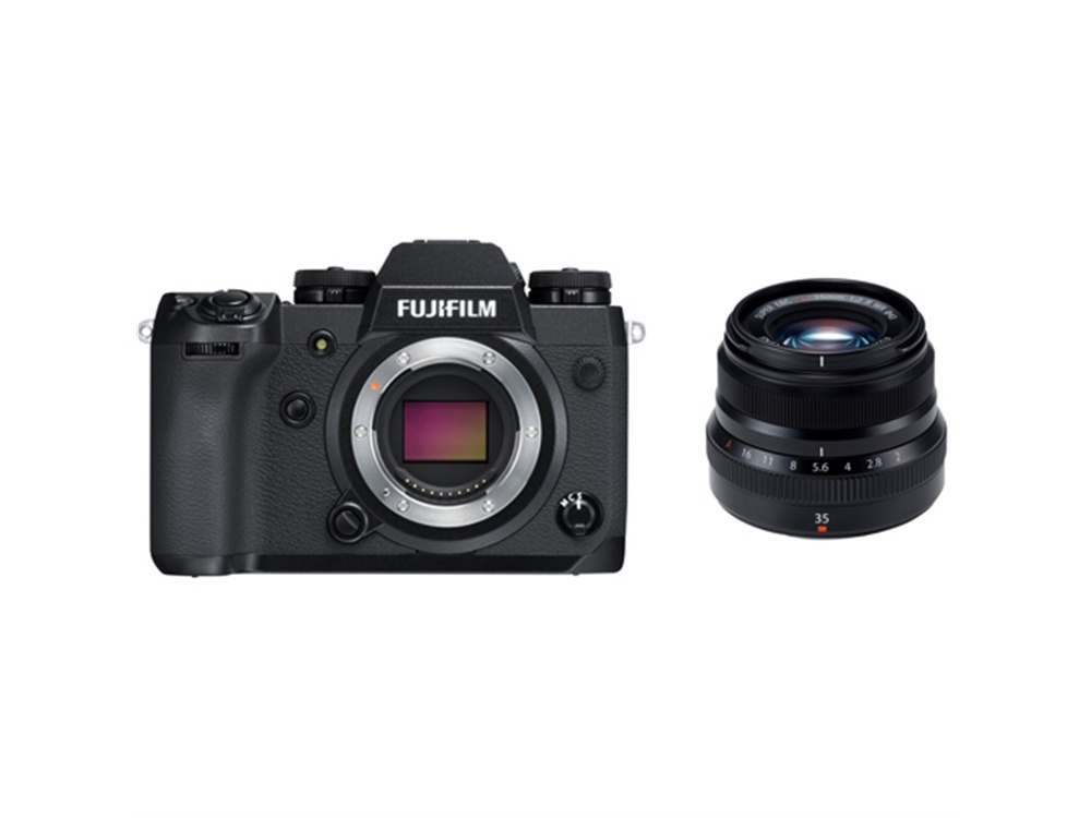 Fujifilm X-H1 Mirrorless Digital Camera with XF 35mm f/2 R WR Lens (Black)