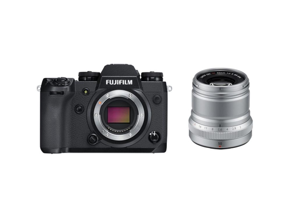 Fujifilm X-H1 Mirrorless Digital Camera with XF 50mm f/2 R WR Lens (Silver)