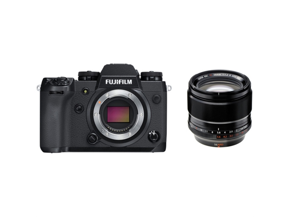 Fujifilm X-H1 Mirrorless Digital Camera with XF 56mm f/1.2 R APD Lens