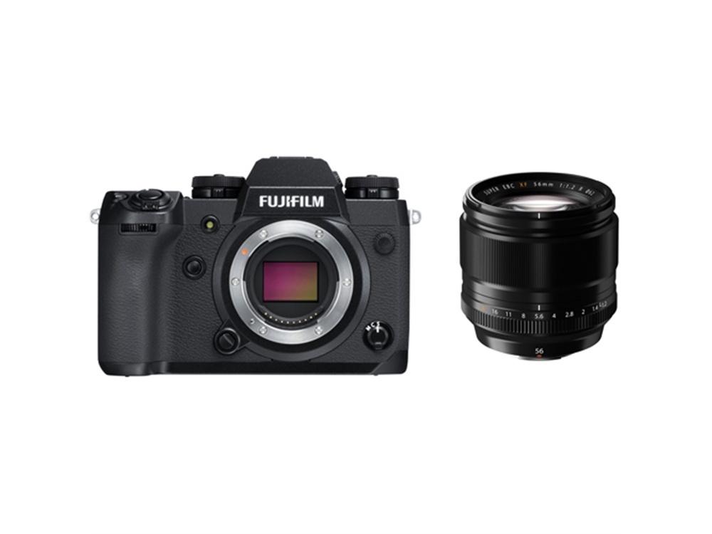 Fujifilm X-H1 Mirrorless Digital Camera with XF 56mm f/1.2 R Lens