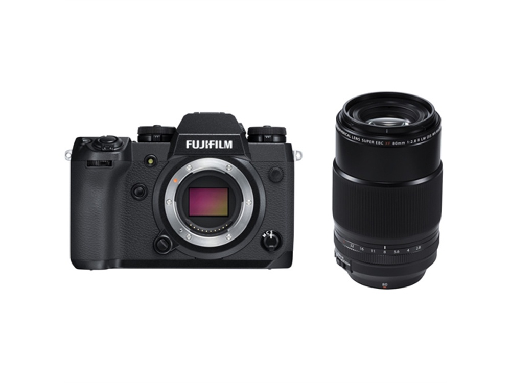 Fujifilm X-H1 Mirrorless Digital Camera with XF 80mm f/2.8 R LM OIS WR Macro Lens