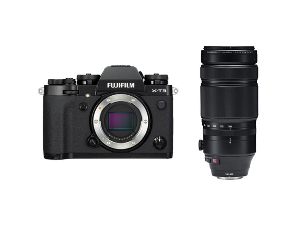 Fujifilm X-T3 Mirrorless Digital Camera (Black) with XF 100-400mm f/4.5-5.6 R LM OIS WR Lens