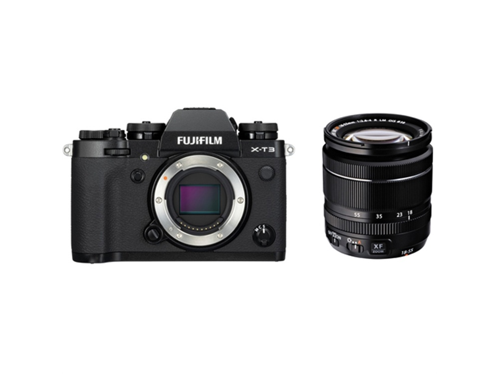 Fujifilm X-T3 Mirrorless Digital Camera (Black) with 18-55mm Zoom Lens