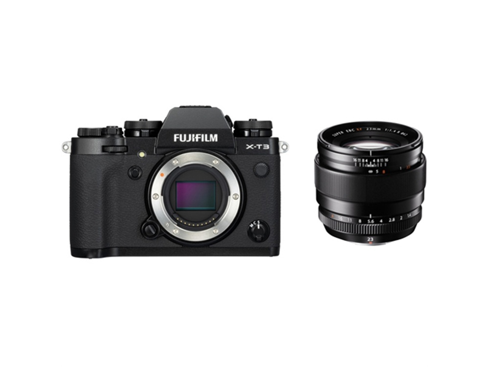 Fujifilm X-T3 Mirrorless Digital Camera (Black) with XF 23mm f/1.4 R Lens