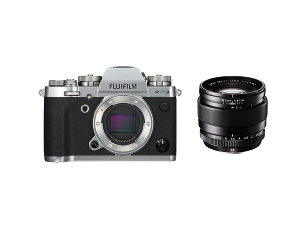 Fujifilm X-T3 Mirrorless Digital Camera (Silver) with XF 23mm f/1.4 R Lens