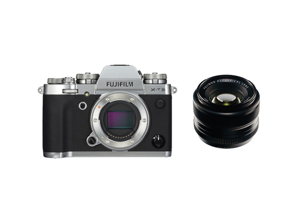 Fujifilm X-T3 Mirrorless Digital Camera (Silver) with XF 35mm f/1.4 R Lens