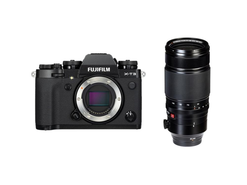 Fujifilm X-T3 Mirrorless Digital Camera (Black) with XF 50-140mm f/2.8 R LM OIS WR Lens