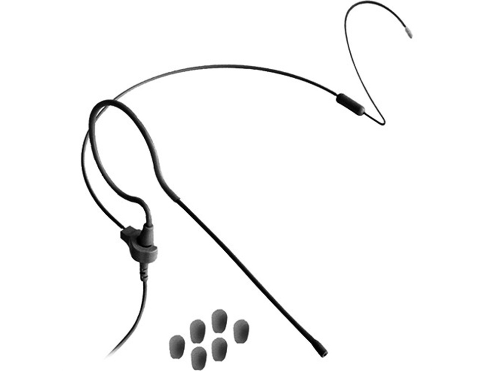 Point Source Audio CO-6 Earset Microphone Kit for Telex Wireless Transmitters (Black)
