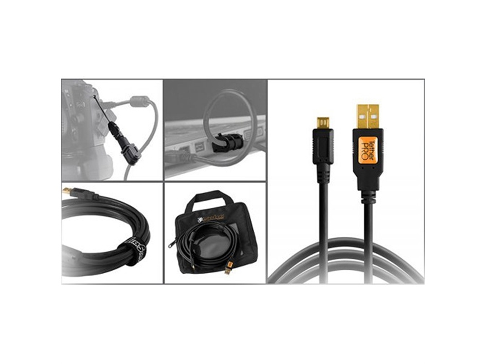 Tether Tools Starter Tethering Kit with USB 2.0 Micro-B 5-Pin Cable (Black)